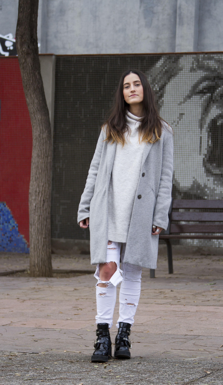 oversized sweater y chaqueta horizontal